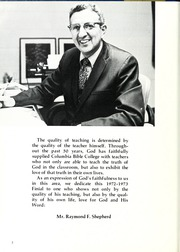 Page 6, 1973 Edition, Columbia Bible College - Finial Yearbook (Columbia, SC) online yearbook collection