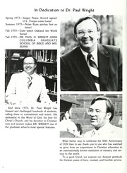 Page 8, 1986 Edition, Columbia Bible College - Finial Yearbook (Columbia, SC) online yearbook collection
