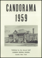Page 5, 1959 Edition, Candor Central High School - Candorama Yearbook (Candor, NY) online yearbook collection