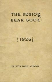 Page 1, 1926 Edition, Fulton High School - Fultonian Yearbook (Fulton, NY) online yearbook collection