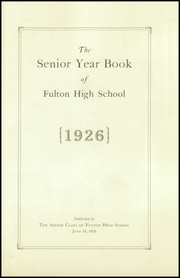 Page 3, 1926 Edition, Fulton High School - Fultonian Yearbook (Fulton, NY) online yearbook collection