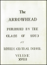 Page 5, 1953 Edition, Romulus Central High School - Arrowhead Yearbook (Romulus, NY) online yearbook collection