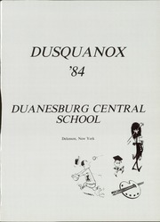 Page 5, 1984 Edition, Duanesburg High School - Dusquanox Yearbook (Delanson, NY) online yearbook collection