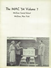 Page 5, 1954 Edition, McGraw High School - Mac Yearbook (Mcgraw, NY) online yearbook collection