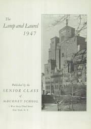Page 3, 1947 Edition, McBurney School - Lamp and Laurel Yearbook (New York, NY) online yearbook collection