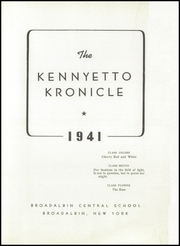 Page 3, 1941 Edition, Broadalbin High School - Kennyetto Kronicle Yearbook (Broadalbin, NY) online yearbook collection