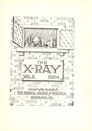 Page 7, 1924 Edition, Medical College of Virginia - X Ray Yearbook (Richmond, VA) online yearbook collection