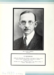 Page 12, 1935 Edition, Medical College of Virginia - X Ray Yearbook (Richmond, VA) online yearbook collection