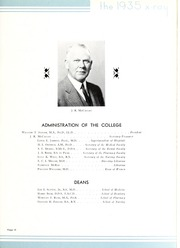 Page 17, 1935 Edition, Medical College of Virginia - X Ray Yearbook (Richmond, VA) online yearbook collection