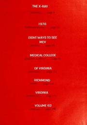 Page 5, 1976 Edition, Medical College of Virginia - X Ray Yearbook (Richmond, VA) online yearbook collection