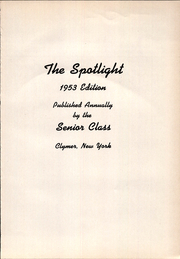 Page 5, 1953 Edition, Clymer Central High School - Spotlight Yearbook (Clymer, NY) online yearbook collection