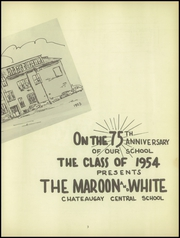 Page 7, 1954 Edition, Chateaugay Central High School - Maroon and White Yearbook (Chateaugay, NY) online yearbook collection