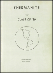 Page 5, 1959 Edition, Sherman Central High School - Wildcat Yearbook (Sherman, NY) online yearbook collection