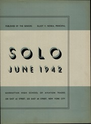 Page 7, 1942 Edition, Manhattan High School of Aviation Trades - Solo Yearbook (New York, NY) online yearbook collection