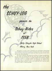 Page 5, 1958 Edition, Schuyler High School - Schuy Log Yearbook (Albany, NY) online yearbook collection