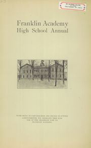 Prattsburgh Central High School - Franklinite Yearbook (Prattsburgh, NY) online yearbook collection, 1923 Edition, Page 1