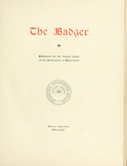 Page 7, 1896 Edition, University of Wisconsin Madison - Badger Yearbook (Madison, WI) online yearbook collection