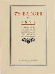 Page 4, 1903 Edition, University of Wisconsin Madison - Badger Yearbook (Madison, WI) online yearbook collection