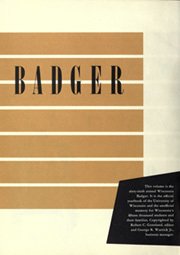 Page 6, 1951 Edition, University of Wisconsin Madison - Badger Yearbook (Madison, WI) online yearbook collection