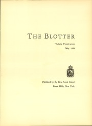 Page 9, 1948 Edition, Kew Forest School - Blotter Yearbook (Forest Hills, NY) online yearbook collection
