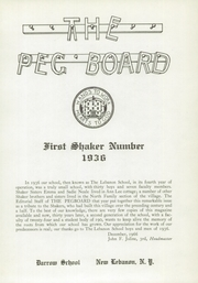 Page 5, 1936 Edition, Darrow School - Shaker Post Yearbook (New Lebanon, NY) online yearbook collection