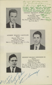 Page 15, 1955 Edition, Darrow School - Shaker Post Yearbook (New Lebanon, NY) online yearbook collection