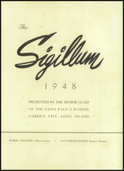 St Pauls School - Sigillum Yearbook (Garden City, NY) online yearbook collection, 1948 Edition, Page 7