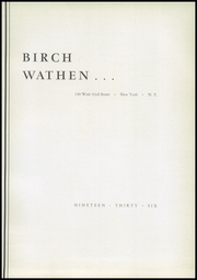Page 9, 1936 Edition, Birch Wathen Lenox High School - Archway (New York, NY) online yearbook collection
