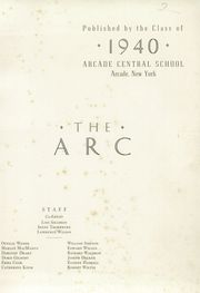 Page 3, 1940 Edition, Arcade Central High School - Edacra Yearbook (Arcade, NY) online yearbook collection