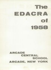 Page 5, 1958 Edition, Arcade Central High School - Edacra Yearbook (Arcade, NY) online yearbook collection