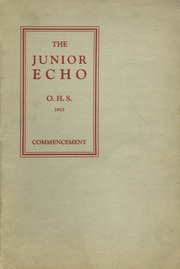 Page 1, 1923 Edition, Ontario High School - Echo Yearbook (Ontario, NY) online yearbook collection