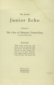 Page 3, 1923 Edition, Ontario High School - Echo Yearbook (Ontario, NY) online yearbook collection