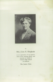 Page 5, 1923 Edition, Ontario High School - Echo Yearbook (Ontario, NY) online yearbook collection