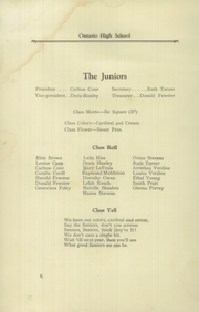 Page 8, 1923 Edition, Ontario High School - Echo Yearbook (Ontario, NY) online yearbook collection