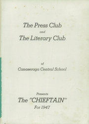 Page 5, 1947 Edition, Canaseraga High School - Chieftain Yearbook (Canaseraga, NY) online yearbook collection