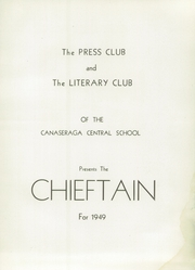 Page 5, 1949 Edition, Canaseraga High School - Chieftain Yearbook (Canaseraga, NY) online yearbook collection