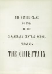 Page 7, 1954 Edition, Canaseraga High School - Chieftain Yearbook (Canaseraga, NY) online yearbook collection