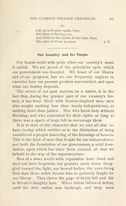 Page 11, 1899 Edition, Clemson University - Taps Yearbook (Clemson, SC) online yearbook collection