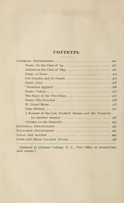 Page 4, 1899 Edition, Clemson University - Taps Yearbook (Clemson, SC) online yearbook collection