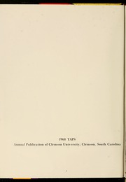 Page 6, 1968 Edition, Clemson University - Taps Yearbook (Clemson, SC) online yearbook collection