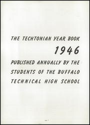 Page 4, 1946 Edition, Technical High School - Techtonian Yearbook (Buffalo, NY) online yearbook collection