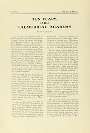 Page 16, 1927 Edition, Yeshiva University High School For Boys - Elchanite Yearbook (New York, NY) online yearbook collection