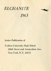 Page 6, 1965 Edition, Yeshiva University High School For Boys - Elchanite Yearbook (New York, NY) online yearbook collection