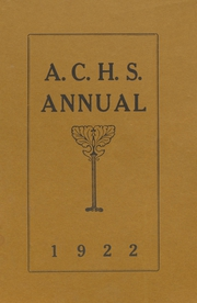 1922 Edition, Adams Center High School - Annual Yearbook (Adams Center, NY)