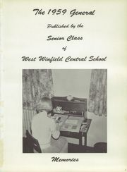 Page 5, 1959 Edition, West Winfield High School - General Yearbook (West Winfield, NY) online yearbook collection