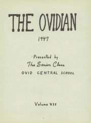 Page 5, 1947 Edition, Ovid Central High School - Ovidian Yearbook (Ovid, NY) online yearbook collection