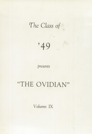 Page 3, 1949 Edition, Ovid Central High School - Ovidian Yearbook (Ovid, NY) online yearbook collection