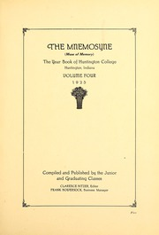 Page 9, 1925 Edition, Huntington College - Mnemosyne Yearbook (Huntington, IN) online yearbook collection