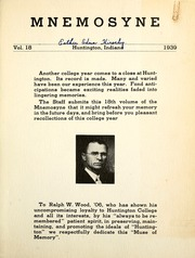 Page 5, 1939 Edition, Huntington College - Mnemosyne Yearbook (Huntington, IN) online yearbook collection