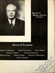 Page 8, 1939 Edition, Huntington College - Mnemosyne Yearbook (Huntington, IN) online yearbook collection